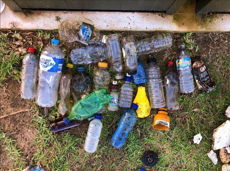 bottles, rubbish, single use plastic